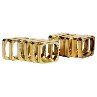 Bucklers 5th Ave Napkin Rings- Set of 12