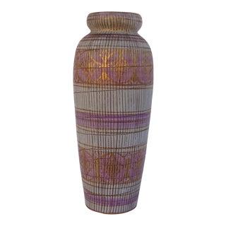 Bitossi Italian Sgraffito Ceramic Vase