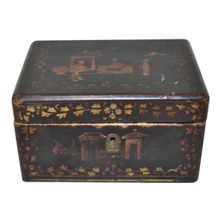 Miniature Chinoiserie Box Late 19th Century