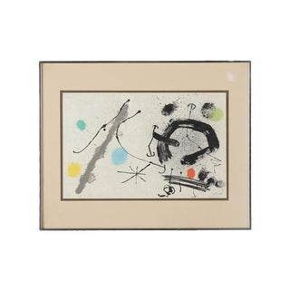 "Joan Miro ""Abstract"" Original Lithograph, Signed"