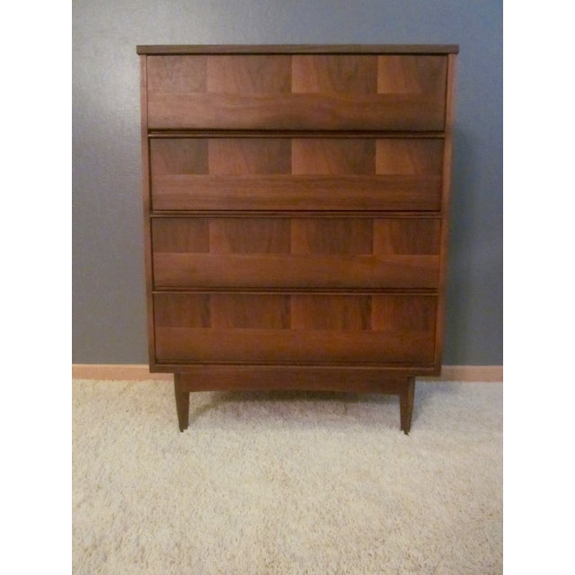 Mid-Century Modern Highboy Dresser - Image 3 of 7