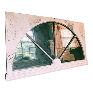 Vintage Hanging Window Pane Mirror
