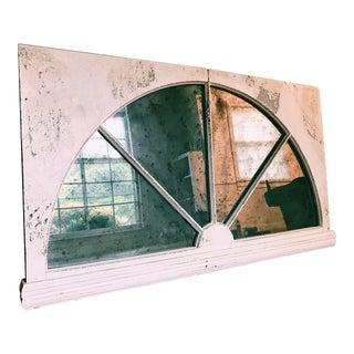 Vintage Hanging Window Pane Mirror