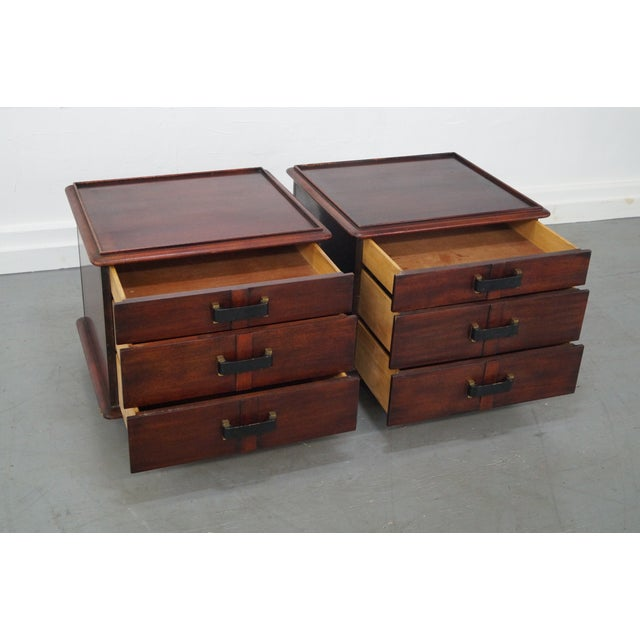 Paul Frankl Johnson Furniture Mahogany Station Wagon Nightstands- A Pair - Image 7 of 10