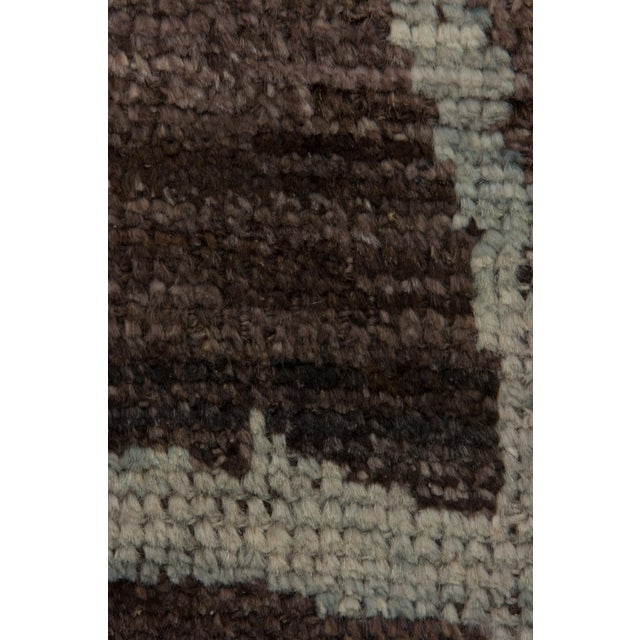 "Moroccan Hand Knotted Area Rug - 4'1"" X 5'10"" - Image 3 of 3"
