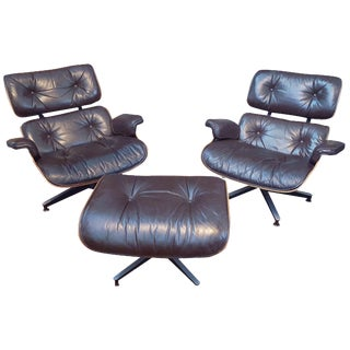 Herman Miller Eames Lounge Chairs & Ottoman - S/3