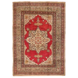 Antique Oversize Late 19th Century Persian Meshed Carpet