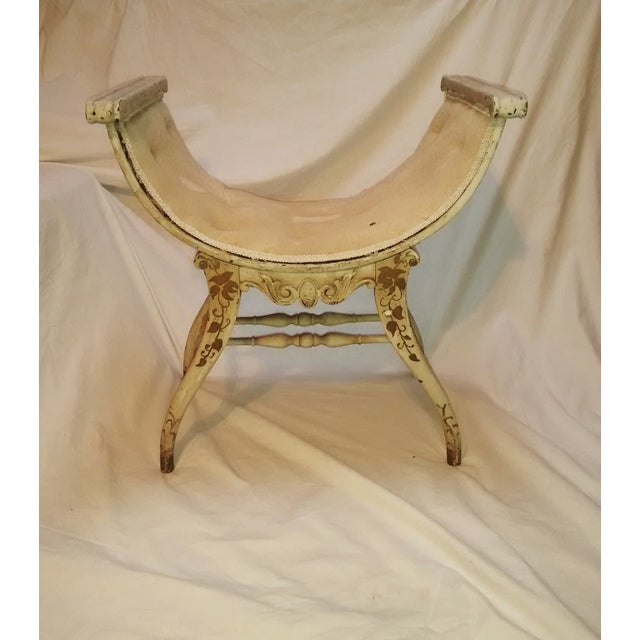 Antique French Upholstered Slipper Chair - Image 5 of 11 - Antique French Upholstered Slipper Chair Chairish