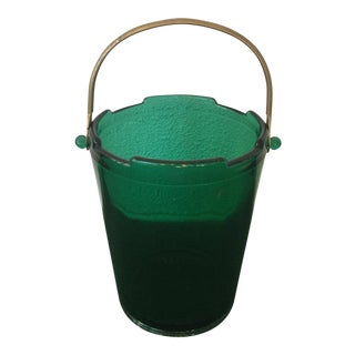 Green Glass Ice Bucket