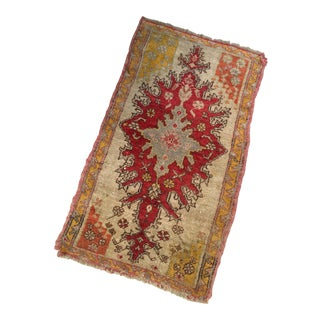 "Antique Turkish Rug Mat - 1'8"" X 2'8"""