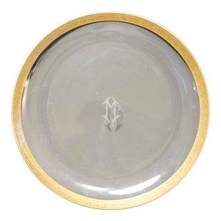 Vintage Gold Rimmed Serving Dish