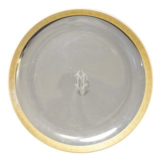 Vintage Gold Rimmed Serving Dish