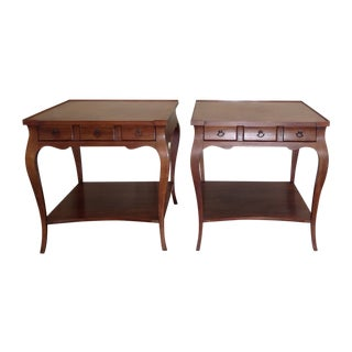John Widdicomb Regency End Tables - a Pair