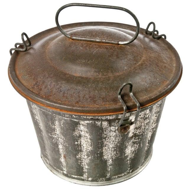 Vintage French Metal Pudding Tin - Image 1 of 3