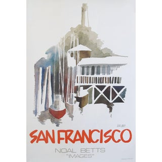 1980 American Noal Betts Travel Poster, San Francisco