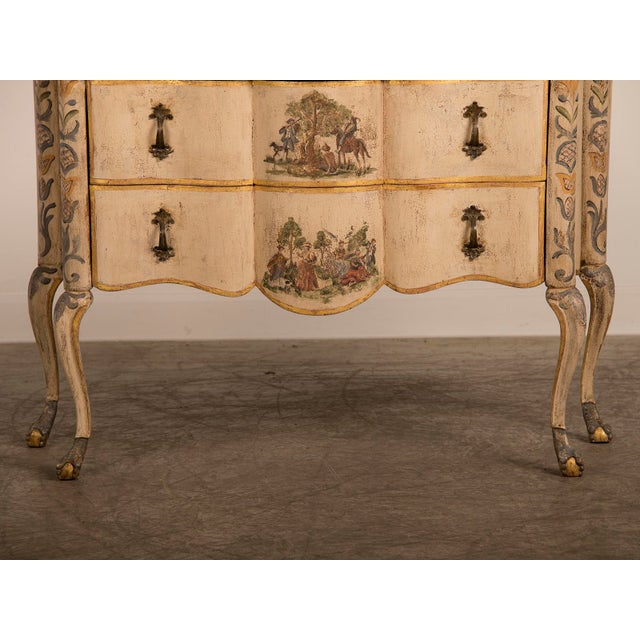Antique Italian Baroque Painted Two Drawer Chest, circa 1750 - Image 8 of 11