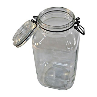 Ermetico Italian Clear Glass Canister