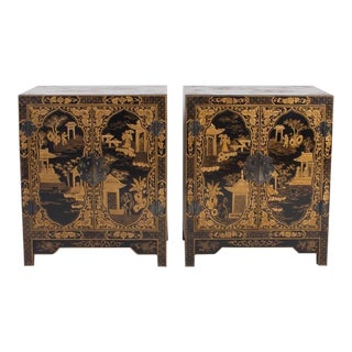 Pair of Chinioserie Cabinets or Nightstands, Tony Duquette