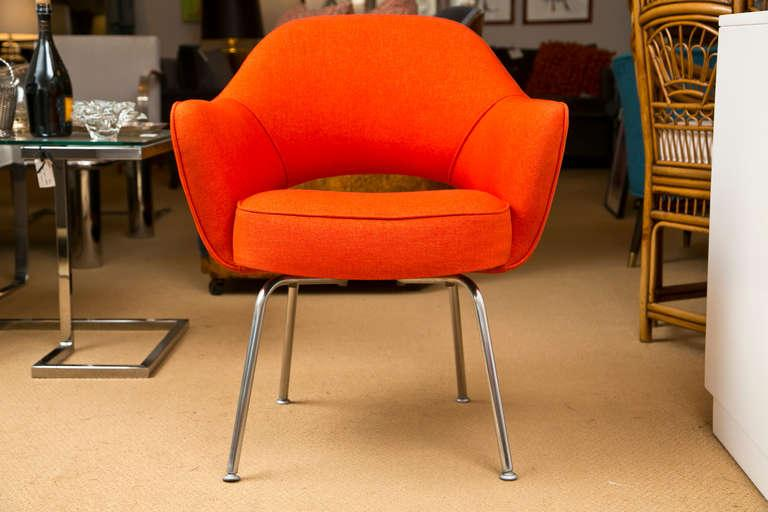 Saarinen for Knoll Executive Arm Chairs in Orange Woven  : saarinen for knoll executive arm chairs in orange woven microfiber set of 6 6198aspectfitampwidth640ampheight640 from www.chairish.com size 640 x 640 jpeg 44kB