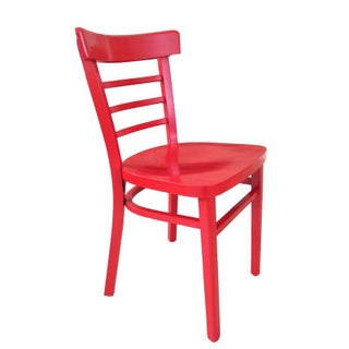 Vintage Cafe Chair in Red
