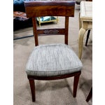 Image of Early 19th Century Newly Upholstered French First Empire Dining Chairs - Set of 6