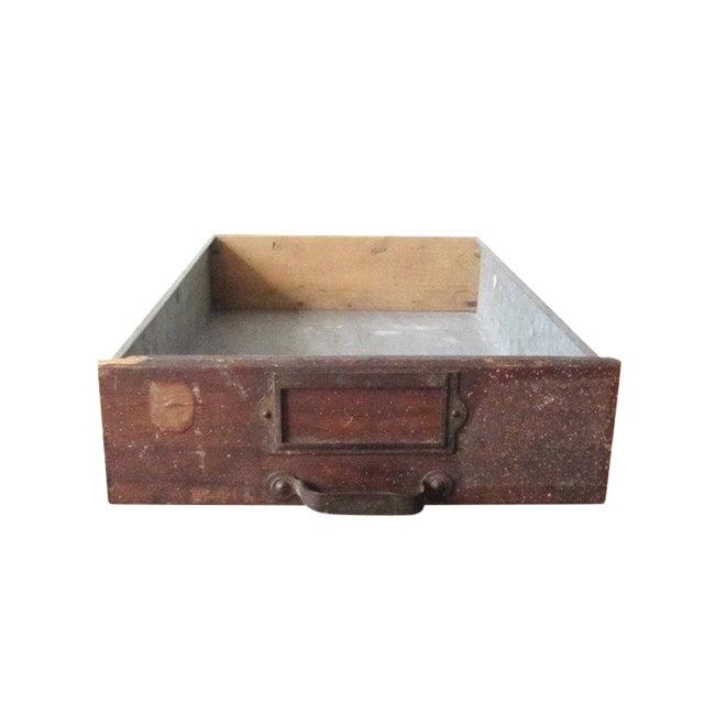 Vintage Rustic Wood & Metal Drawer Box - Image 1 of 6