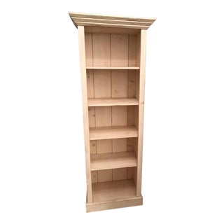 Whitewashed Rustic Pine Bookcase