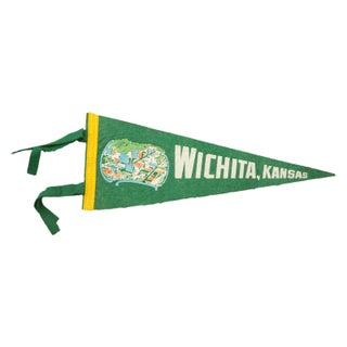 Vintage Wichita Kansas Felt Flag Banner