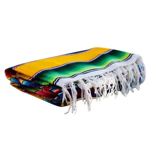 "Southwestern Striped Blanket Rug - 4'11"" X 7' - Image 1 of 5"