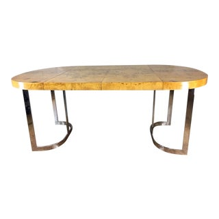 Milo Baughman Burlwood Dining Table