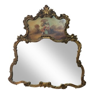 Framed Mirror With Painting
