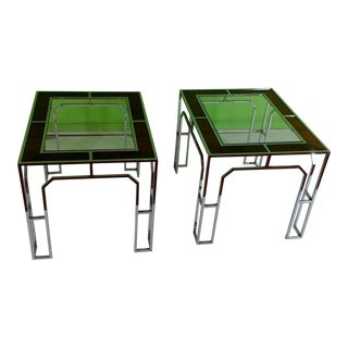 Chrome End Tables - A Pair