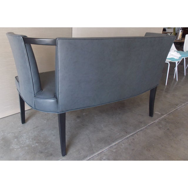 peek a boo leather bench chairish. Black Bedroom Furniture Sets. Home Design Ideas