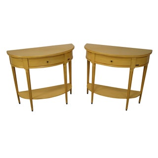 Grange French Louis XVI Demilume Tables - Pair