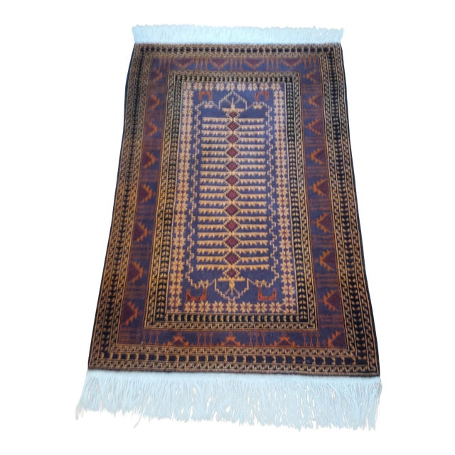 """Persian Shiraz Hand-Knotted Oriental Wool Rug - 4'10"""" X 2'11"""" - Image 1 of 11"""
