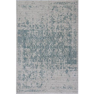 Distressed Turkish Teal Rug 8'x 10'7''