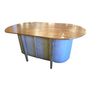 Vintage Reclaimed Wood Island Table