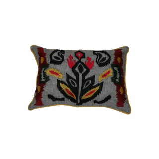 Vibrant Embroidered Pillow Cover