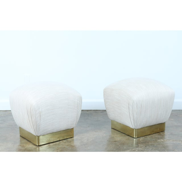 Karl Springer Soufflé Ottomans - A Pair - Image 6 of 10