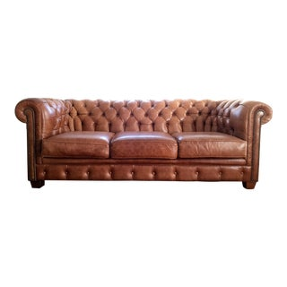 Saddle Brown Chesterfield Sofa