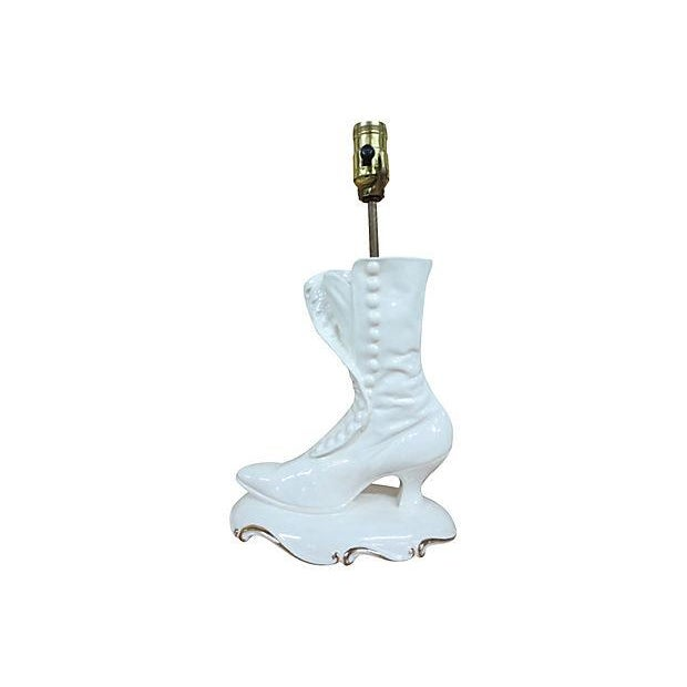 White Boot Lamp - Image 1 of 7