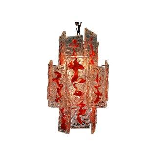 Vintage Mazzega Murano Glass Chandelier