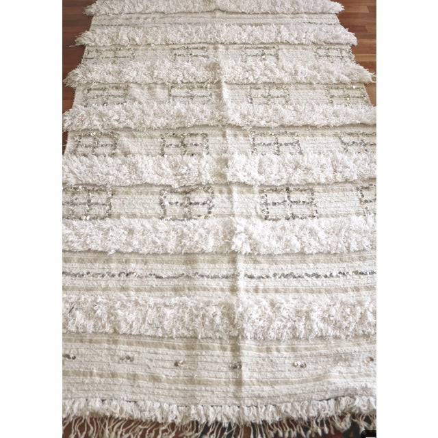 Vintage Moroccan Wedding Blanket - Image 4 of 5