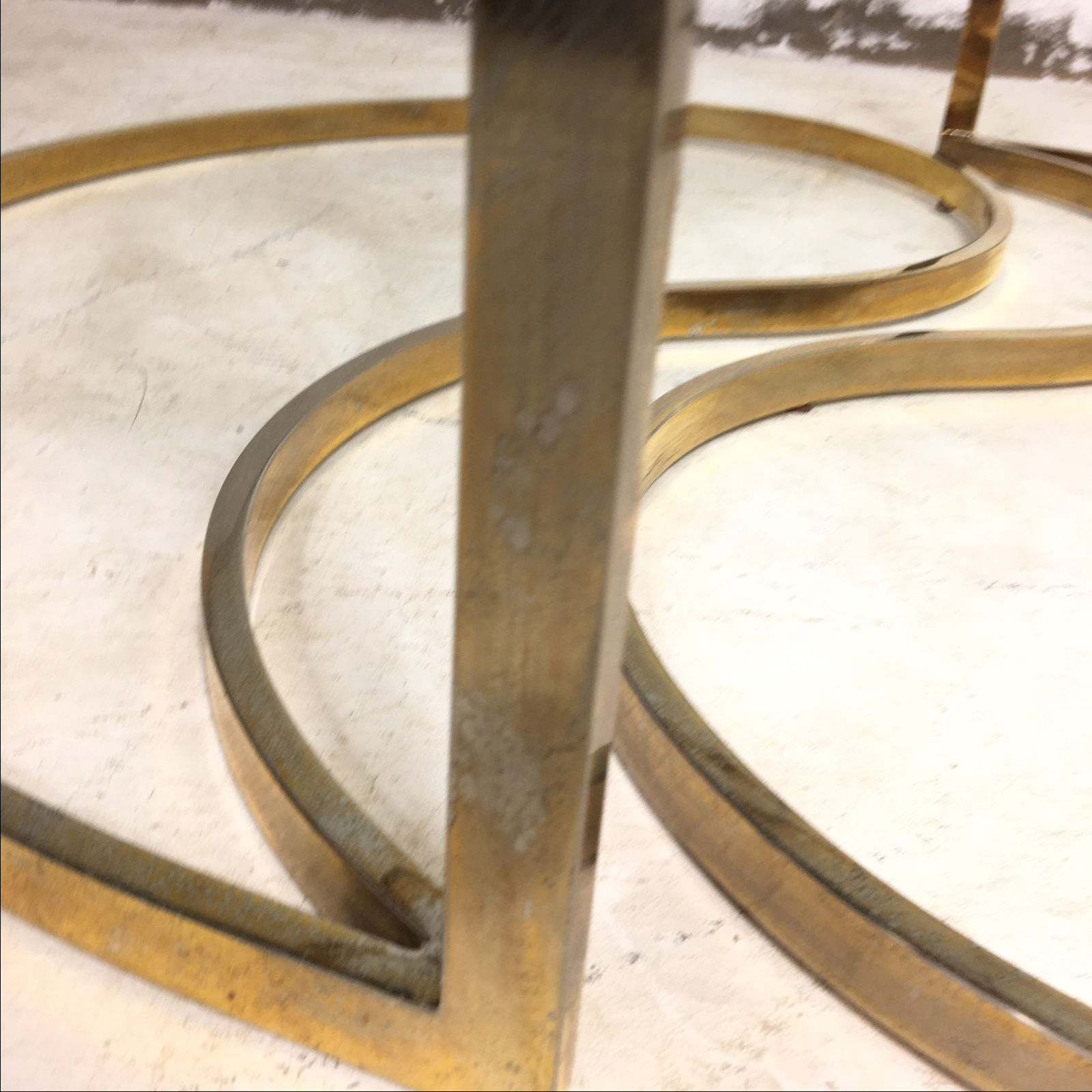 brass yin and yang coffee table | chairish