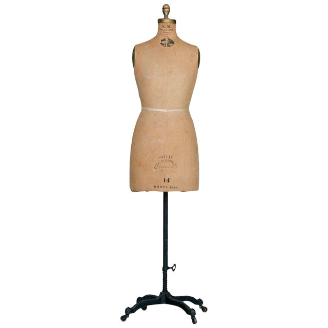 Dress Form Mannequin with Original Hardware - Image 1 of 4