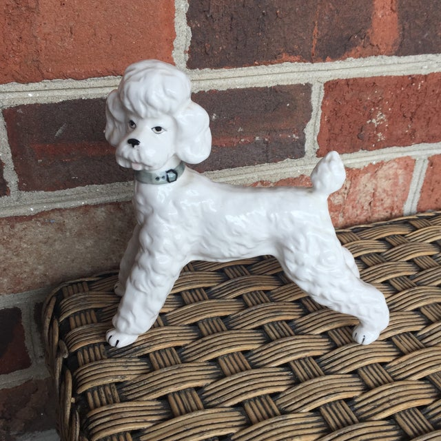 Vintage Ceramic Staffordshire Style Poodle Dog Figurine - Image 3 of 11