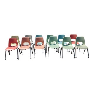 Mid-Century Modern Brunswick Fiberglass Kids Chair - Set of 12