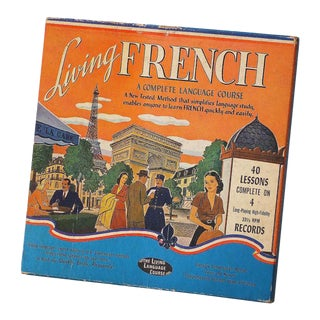Vintage Sarreid Ltd French Language Course Book