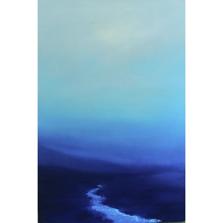 Blue Abstract Mountain Landscape