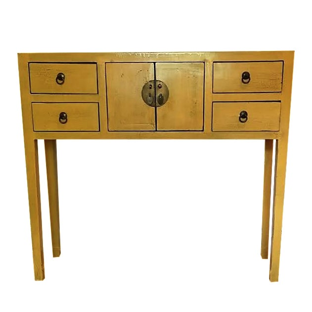 Narrow Vintage Chinoiserie Console - Image 1 of 4